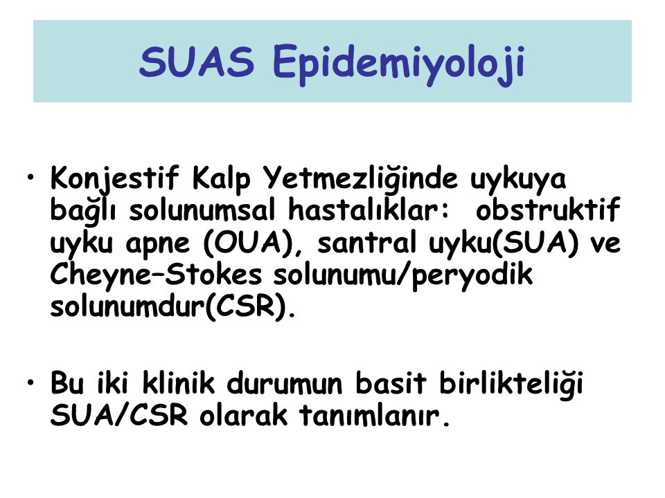SUAS Epidemiyoloji