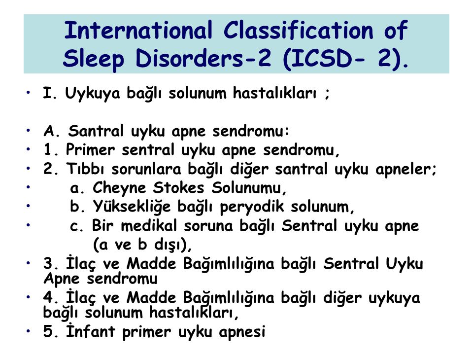 International Classification of Sleep Disorders-2 (ICSD- 2).