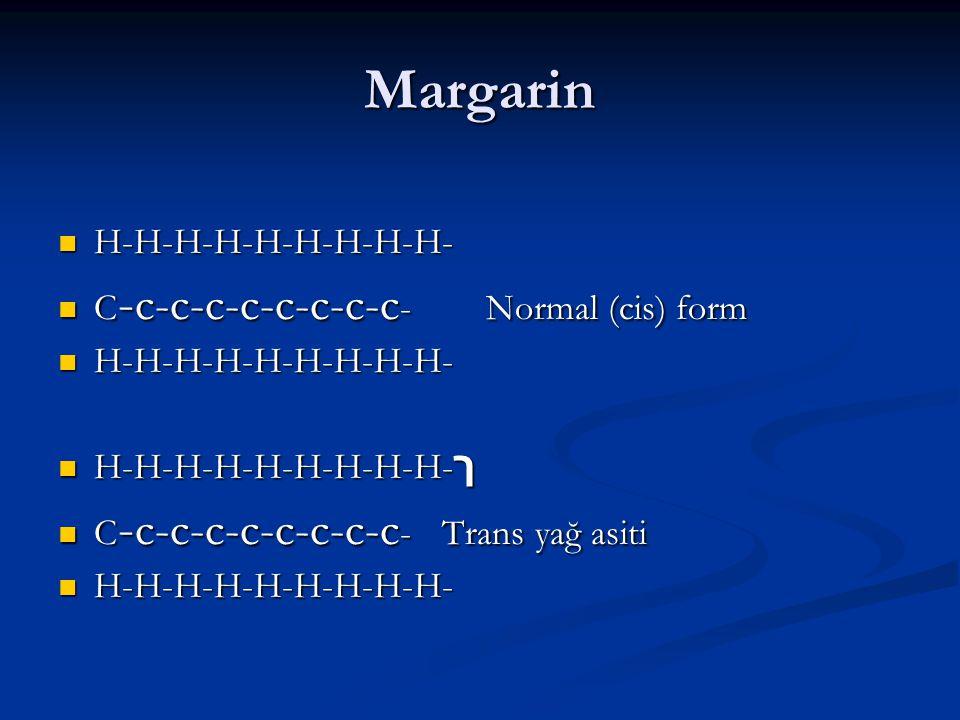 Margarin H-H-H-H-H-H-H-H-H- C-c-c-c-c-c-c-c-c- Normal (cis) form