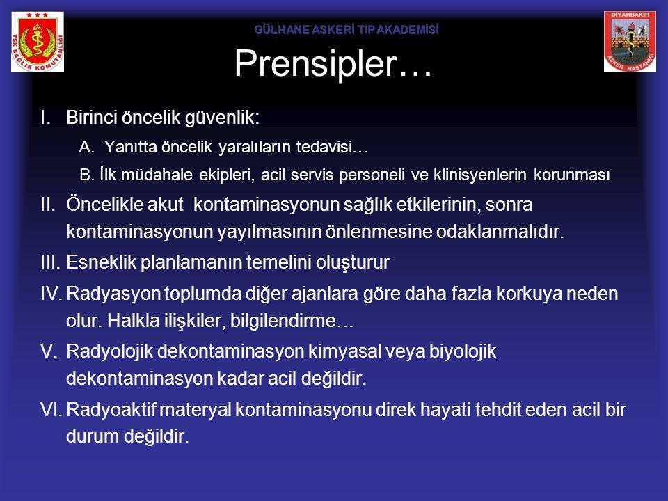 Prensipler… Birinci öncelik güvenlik: