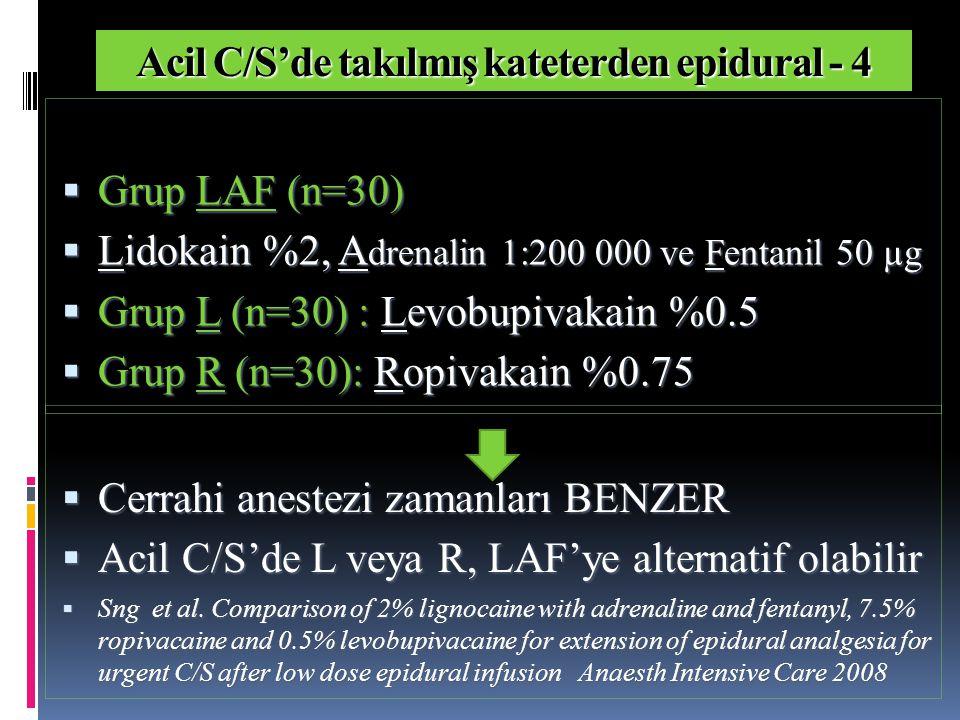 Acil C/S'de takılmış kateterden epidural - 4