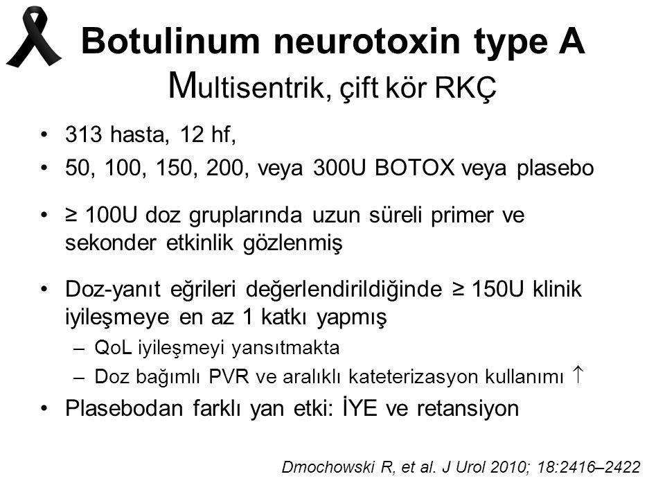 Botulinum neurotoxin type A Multisentrik, çift kör RKÇ