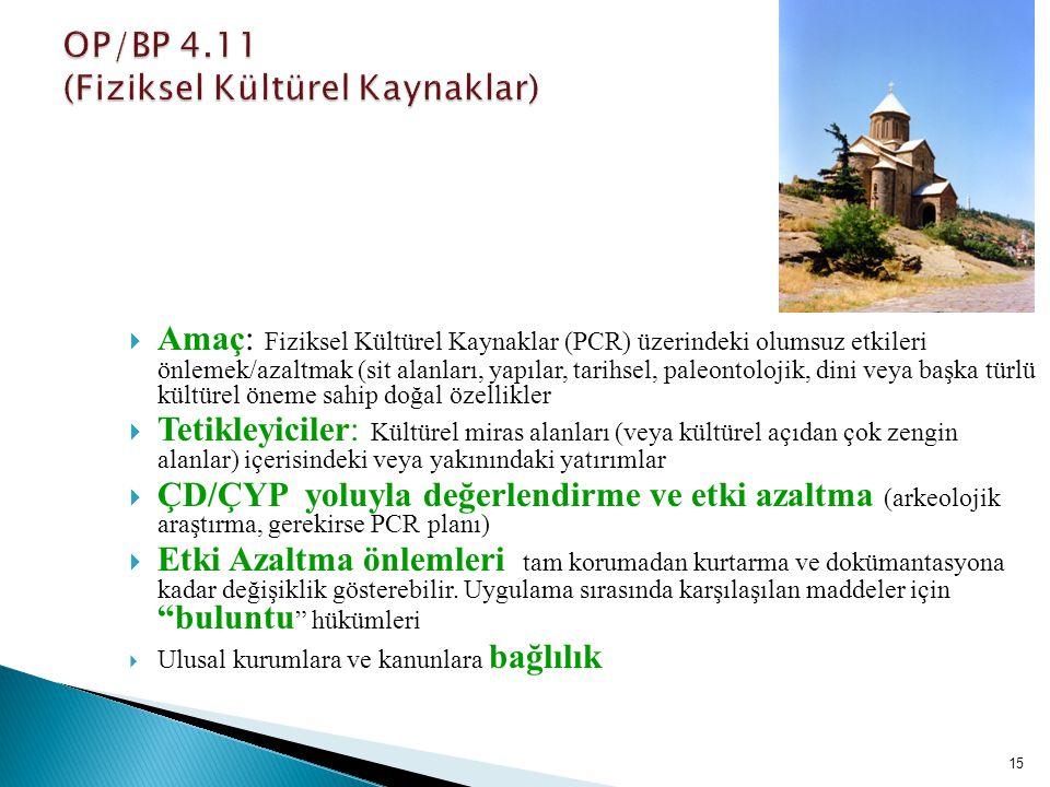 OP/BP 4.11 (Fiziksel Kültürel Kaynaklar)