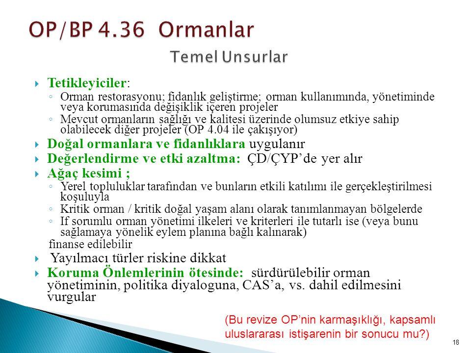 OP/BP 4.36 Ormanlar Temel Unsurlar