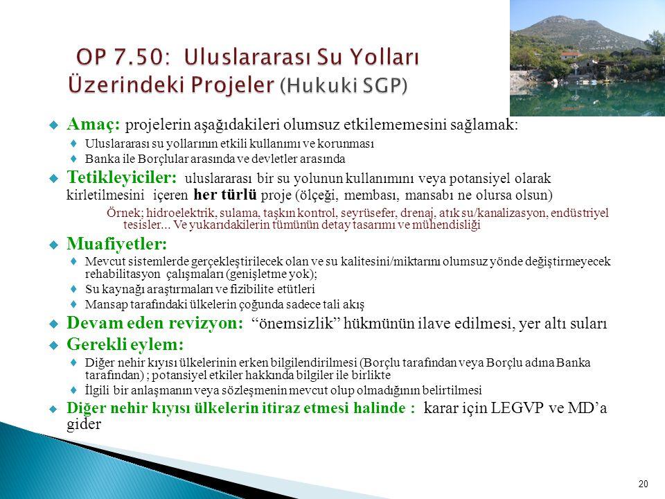 OP 7.50: Uluslararası Su Yolları Üzerindeki Projeler (Hukuki SGP)