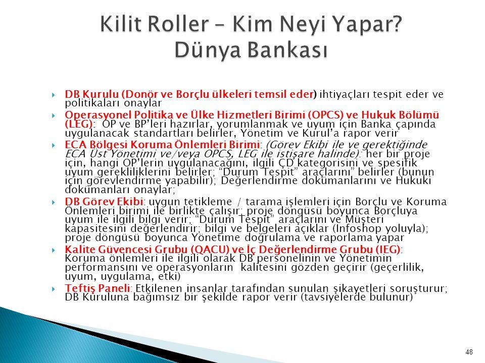 Kilit Roller – Kim Neyi Yapar Dünya Bankası