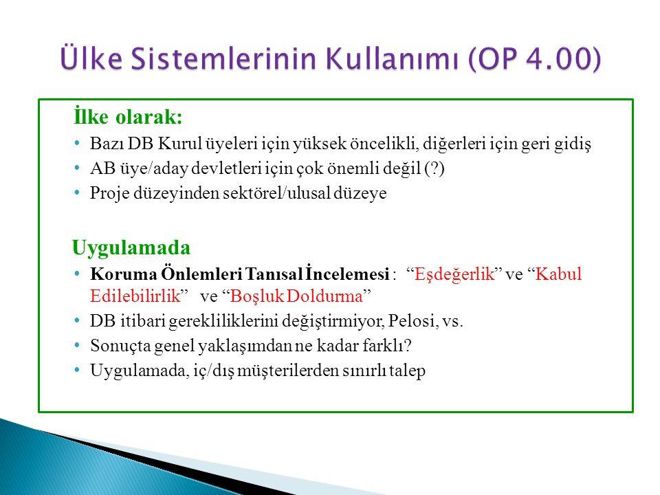 Ülke Sistemlerinin Kullanımı (OP 4.00)