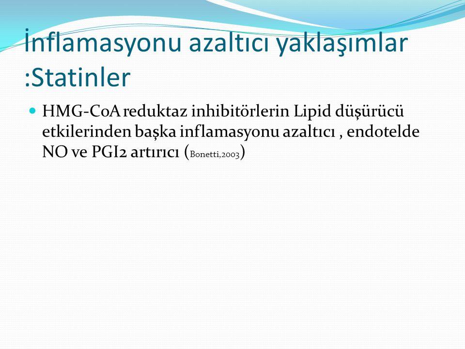 İnflamasyonu azaltıcı yaklaşımlar :Statinler