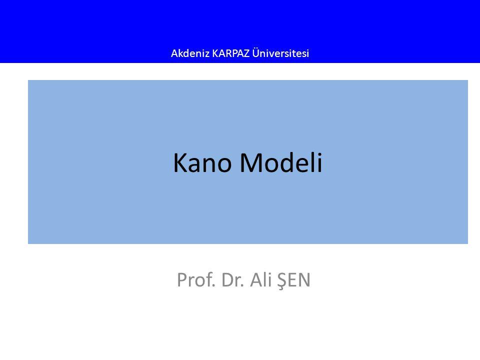 Kano Modeli Prof. Dr. Ali ŞEN
