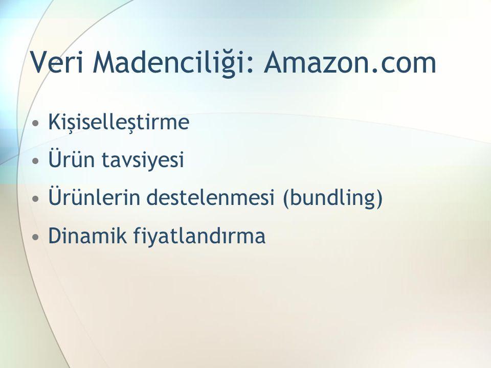 Veri Madenciliği: Amazon.com