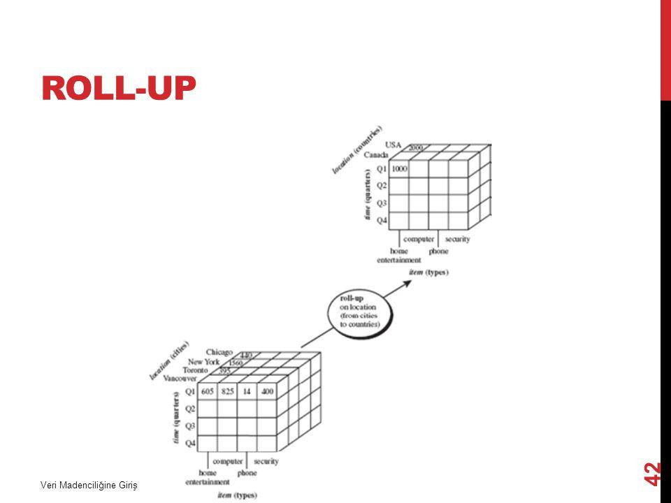 Roll-Up Veri Madenciliğine Giriş