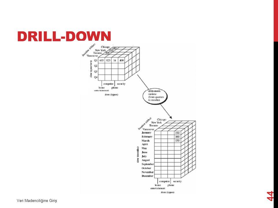 Drill-down Veri Madenciliğine Giriş