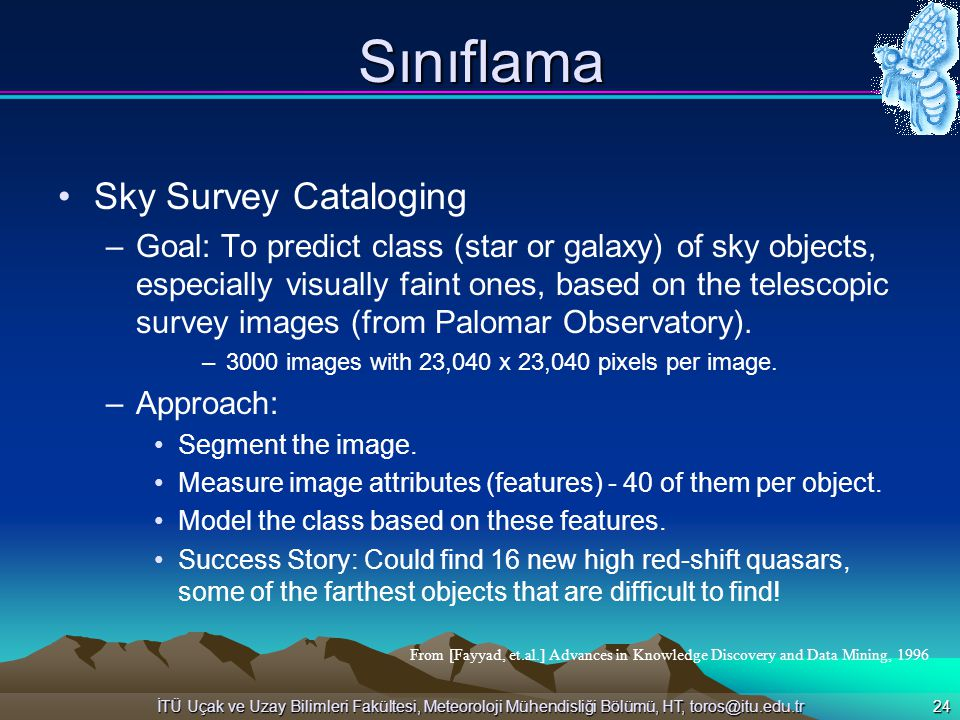 Sınıflama Sky Survey Cataloging