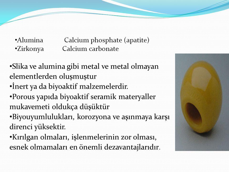 Slika ve alumina gibi metal ve metal olmayan elementlerden oluşmuştur
