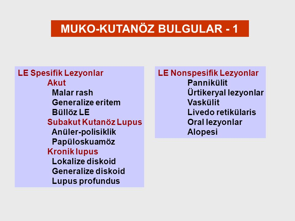 MUKO-KUTANÖZ BULGULAR - 1