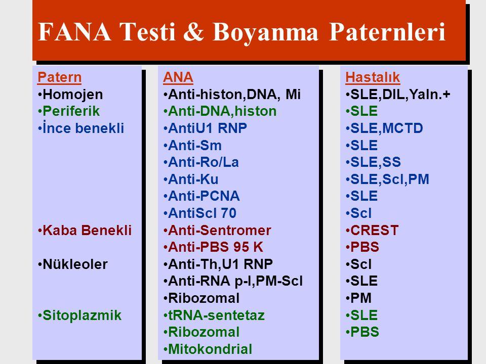 FANA Testi & Boyanma Paternleri