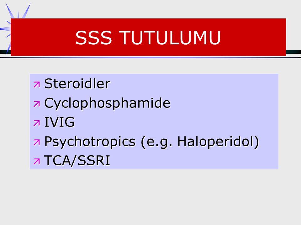 SSS TUTULUMU Steroidler Cyclophosphamide IVIG