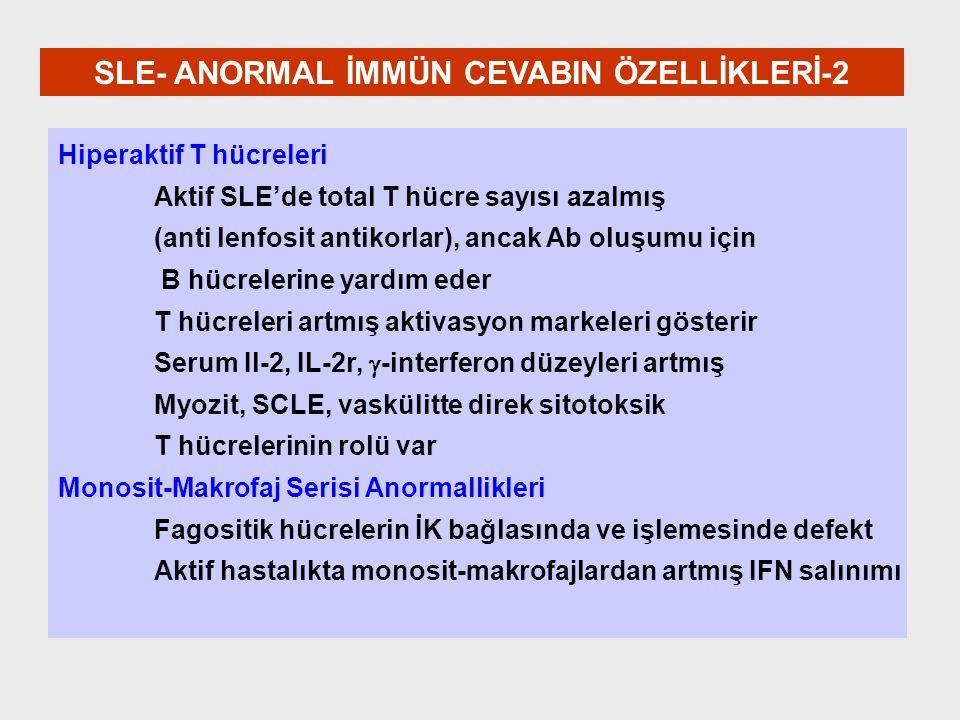 SLE- ANORMAL İMMÜN CEVABIN ÖZELLİKLERİ-2