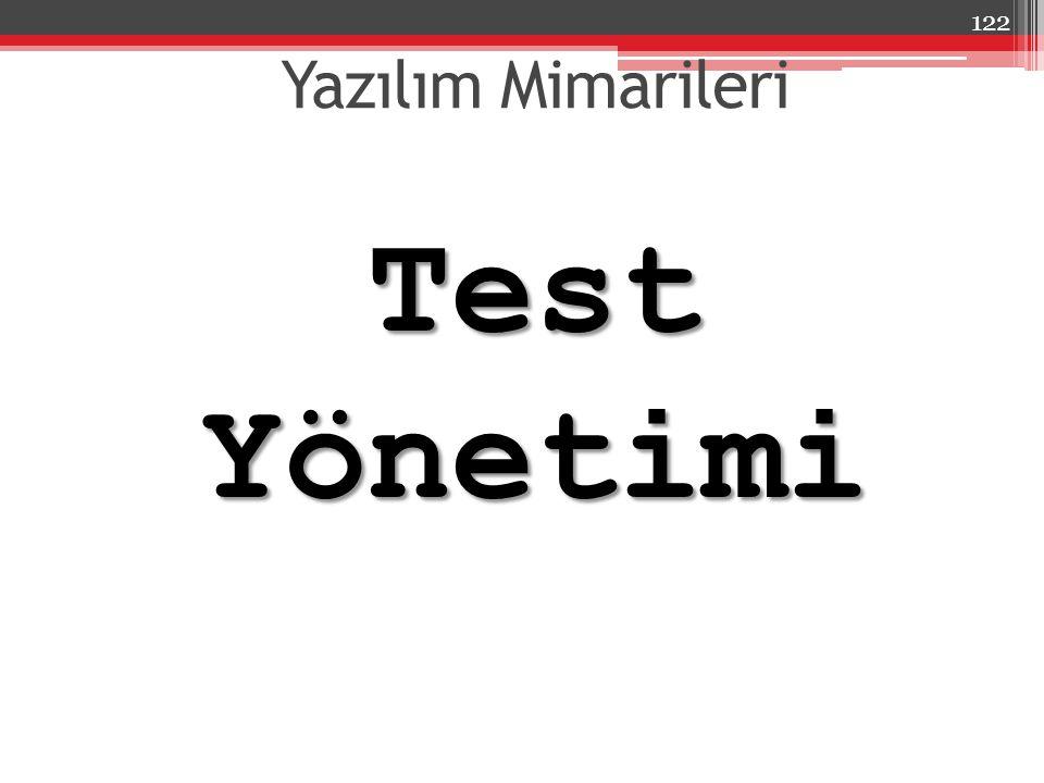 Yazılım Mimarileri Test Yönetimi