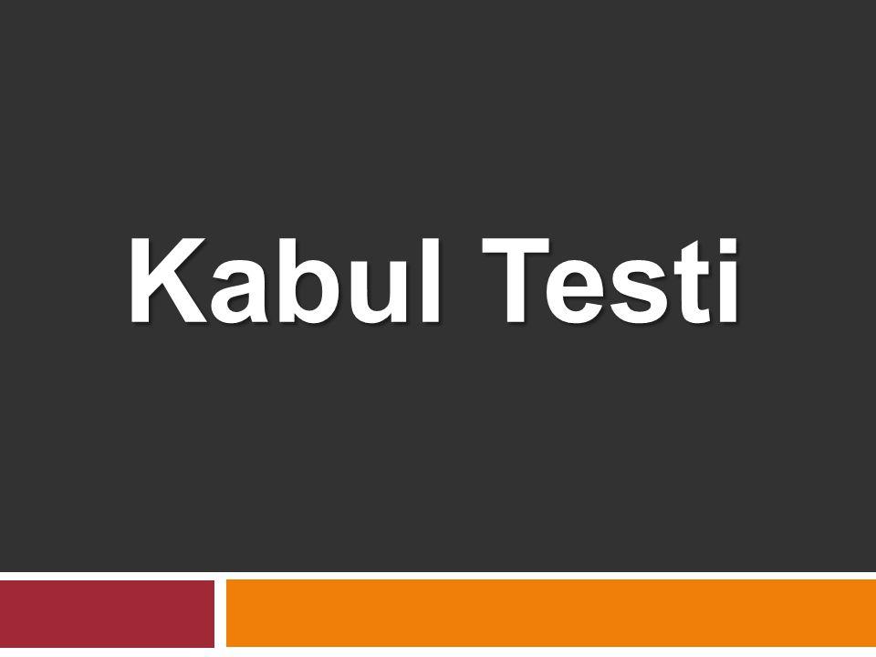 Kabul Testi