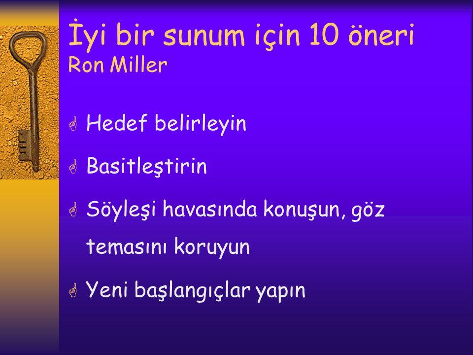 İyi bir sunum için 10 öneri Ron Miller