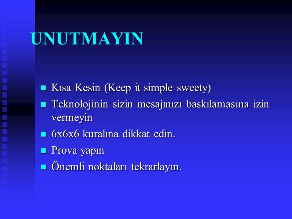 UNUTMAYIN Kısa Kesin (Keep it simple sweety)