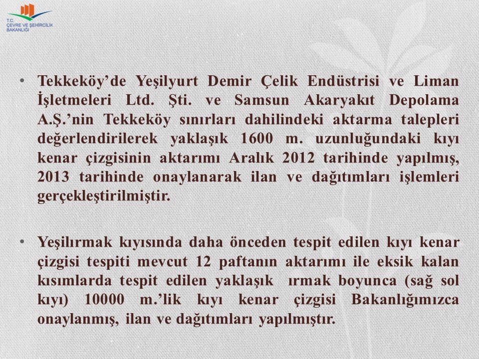 Tekkeköy'de Yeşilyurt Demir Çelik Endüstrisi ve Liman İşletmeleri Ltd