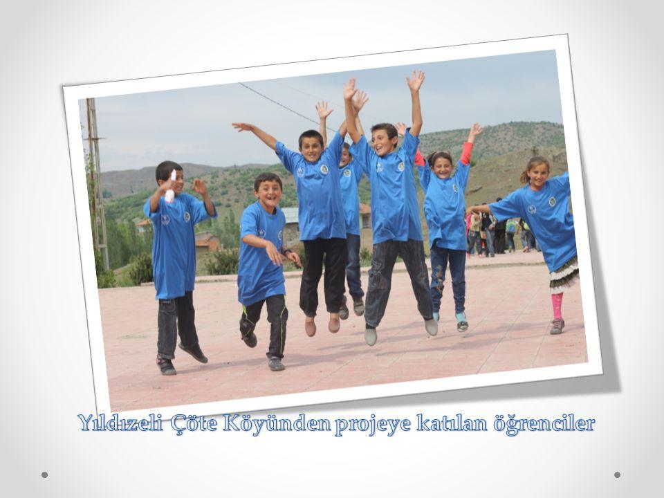 Yıldızeli Çöte Köyünden projeye katılan öğrenciler
