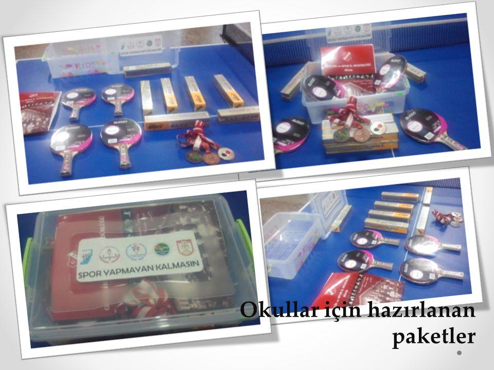 Okullar için hazırlanan paketler