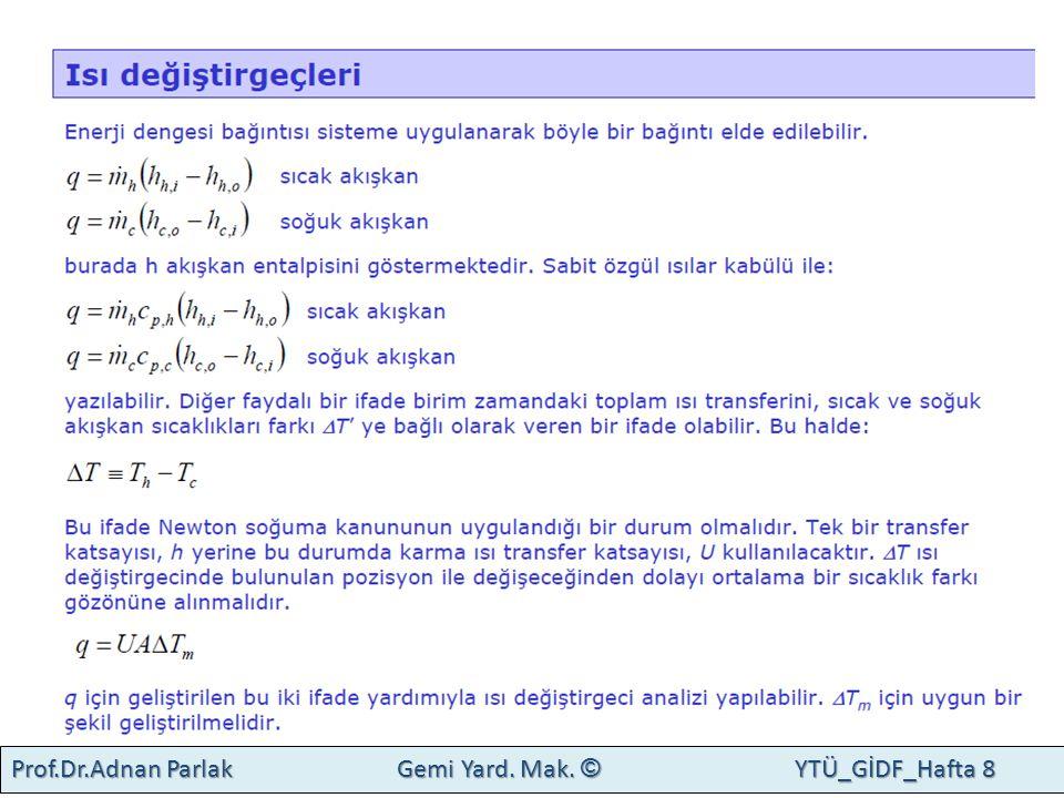 Prof.Dr.Adnan Parlak Gemi Yard. Mak. © YTÜ_GİDF_Hafta 8