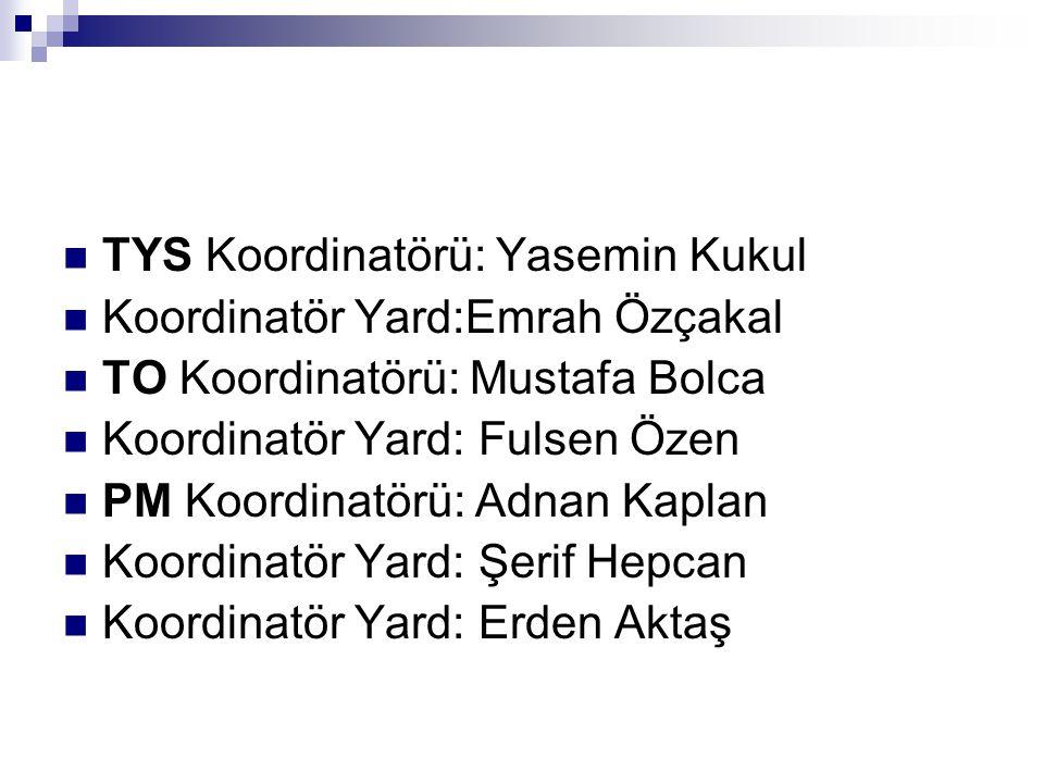 TYS Koordinatörü: Yasemin Kukul