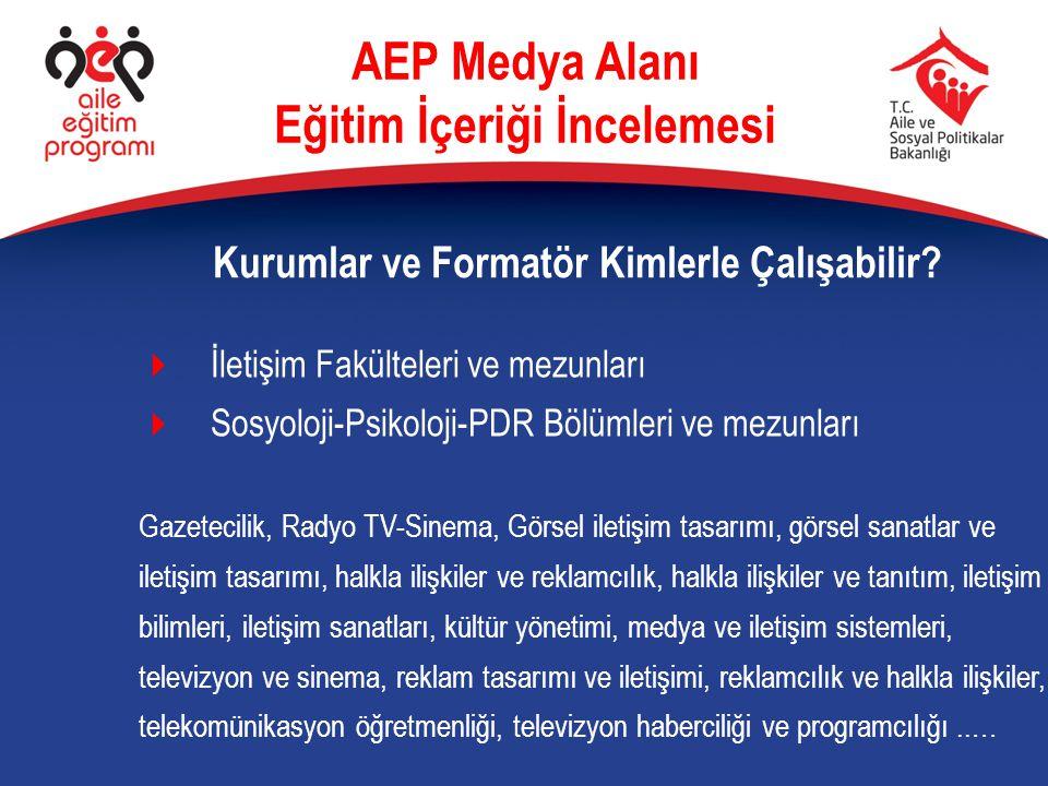 AEP Medya Alanı Eğitim İçeriği İncelemesi