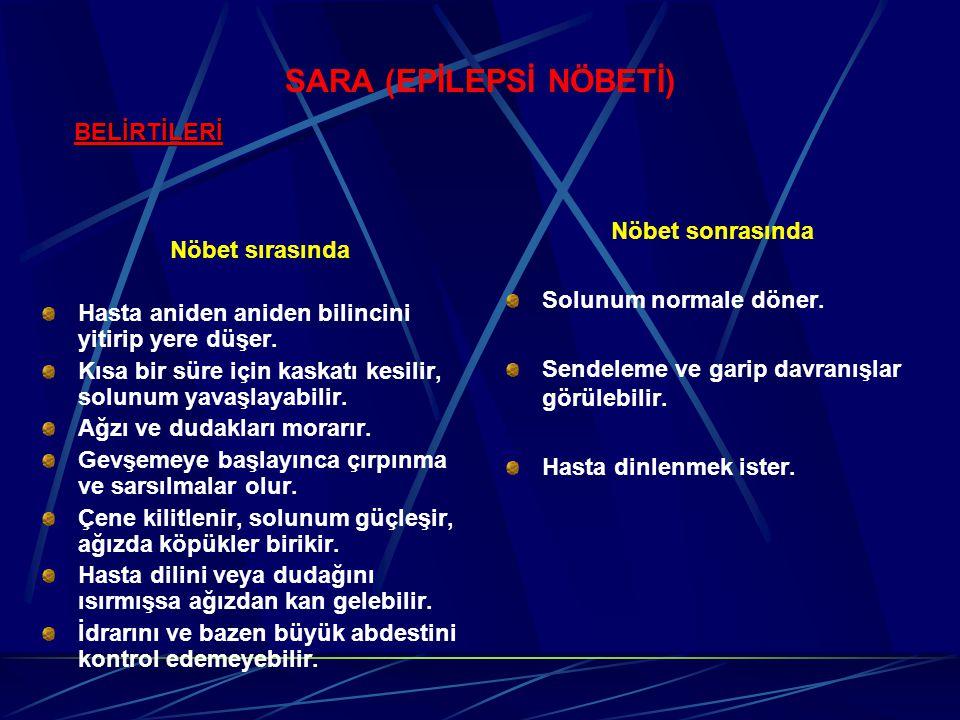 SARA (EPİLEPSİ NÖBETİ)