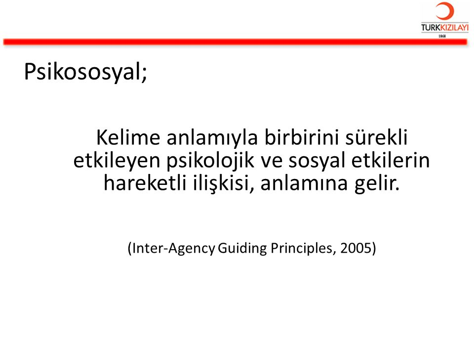 (Inter-Agency Guiding Principles, 2005)