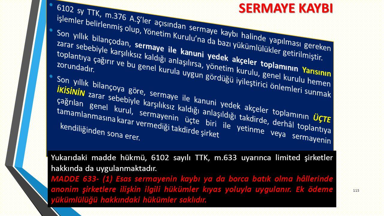 SERMAYE KAYBI