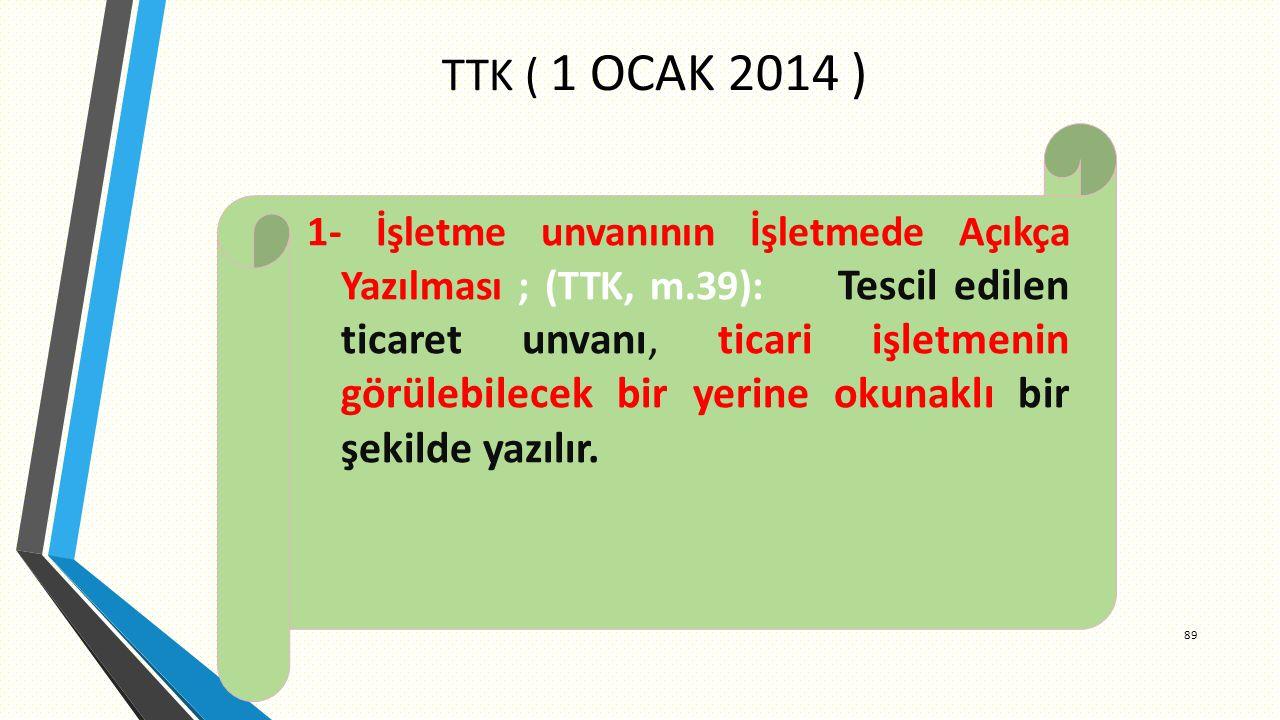 TTK ( 1 OCAK 2014 )