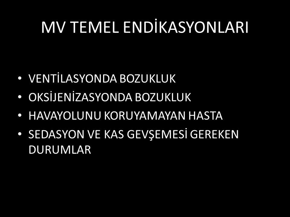 MV TEMEL ENDİKASYONLARI