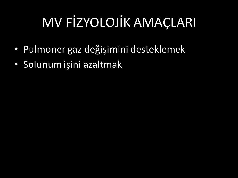 MV FİZYOLOJİK AMAÇLARI
