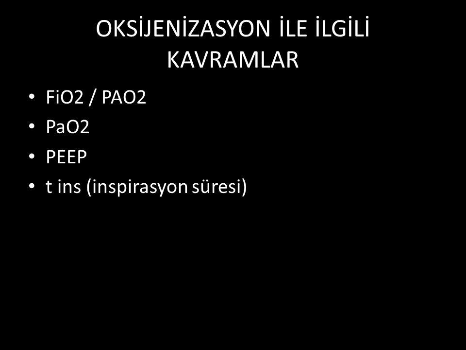 OKSİJENİZASYON İLE İLGİLİ KAVRAMLAR