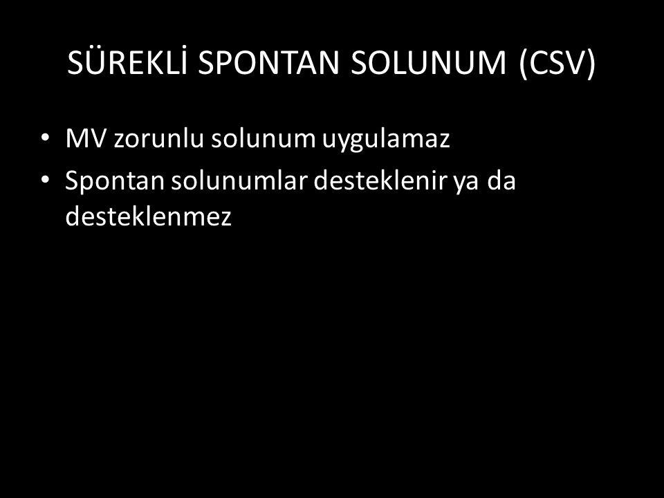 SÜREKLİ SPONTAN SOLUNUM (CSV)