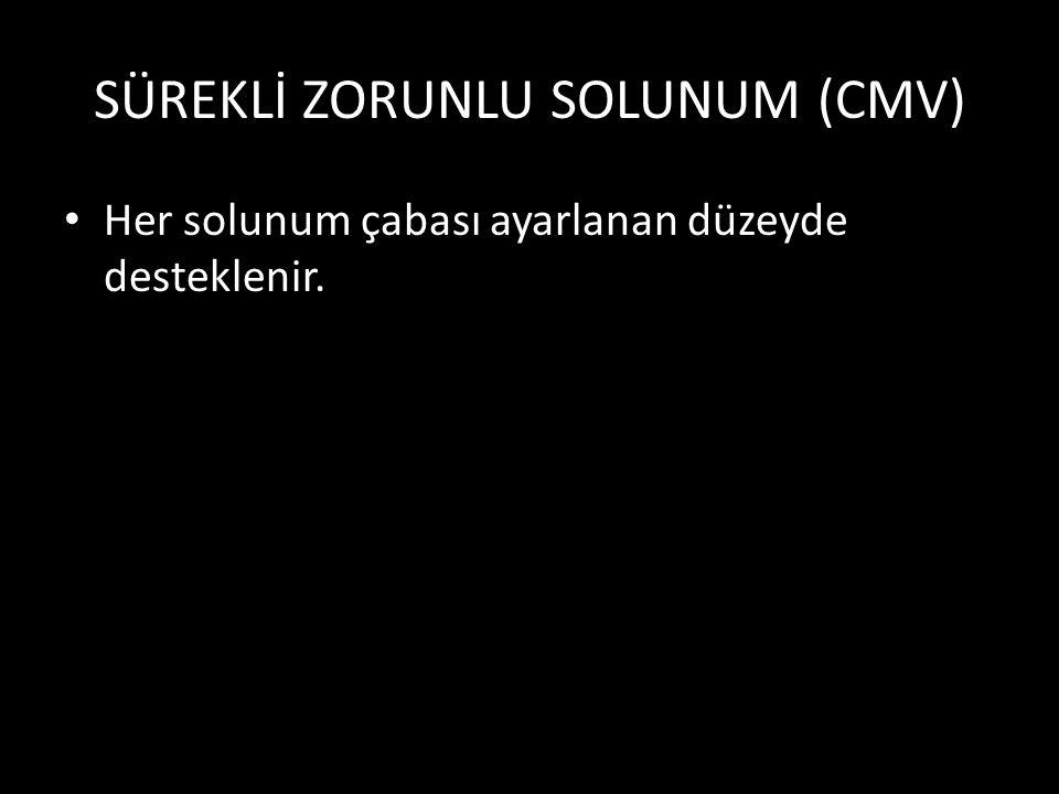 SÜREKLİ ZORUNLU SOLUNUM (CMV)