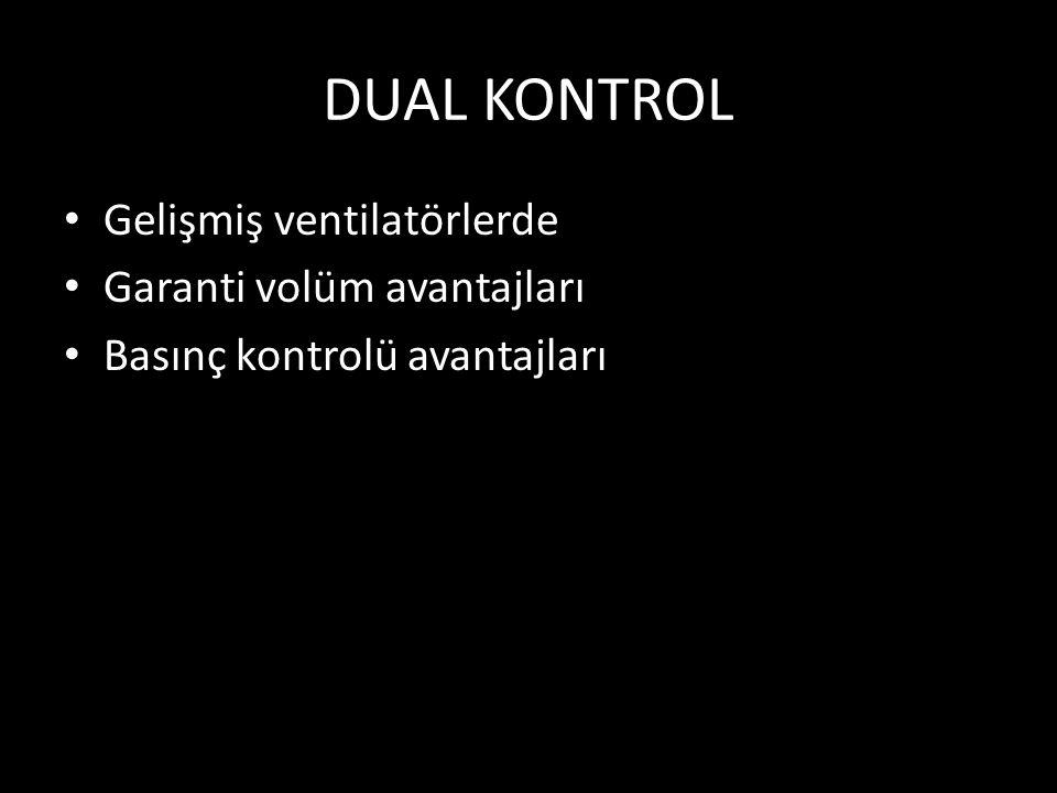 DUAL KONTROL Gelişmiş ventilatörlerde Garanti volüm avantajları