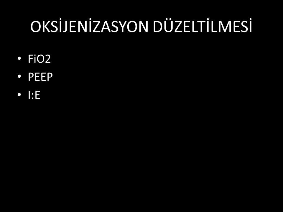 OKSİJENİZASYON DÜZELTİLMESİ