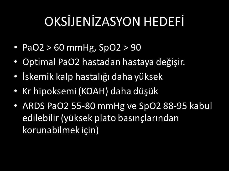 OKSİJENİZASYON HEDEFİ