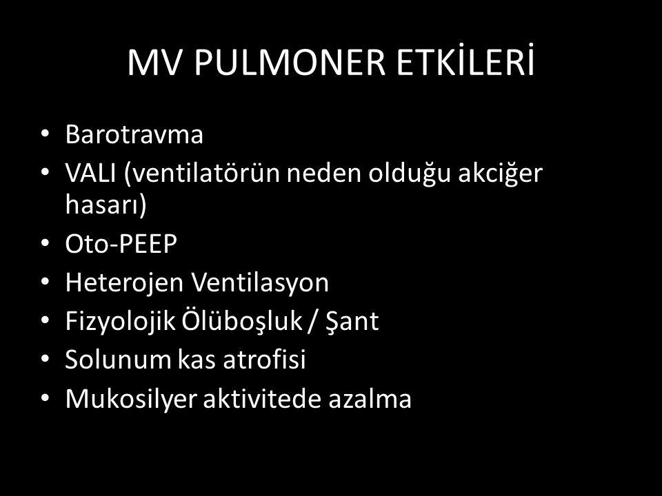 MV PULMONER ETKİLERİ Barotravma