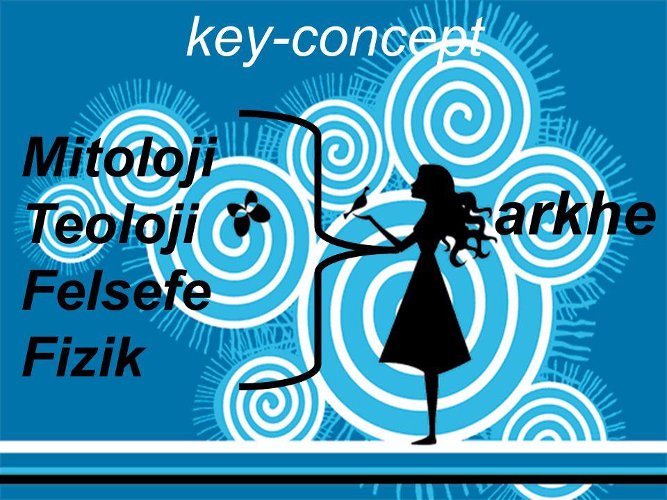key-concept Mitoloji Teoloji Felsefe Fizik arkhe 05.04.2017