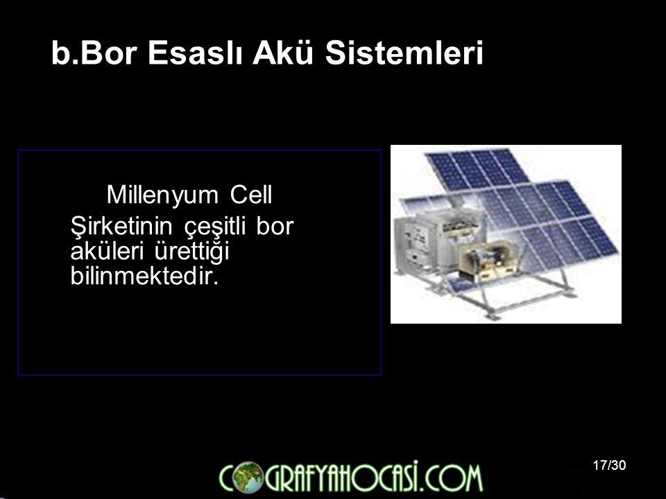 b.Bor Esaslı Akü Sistemleri