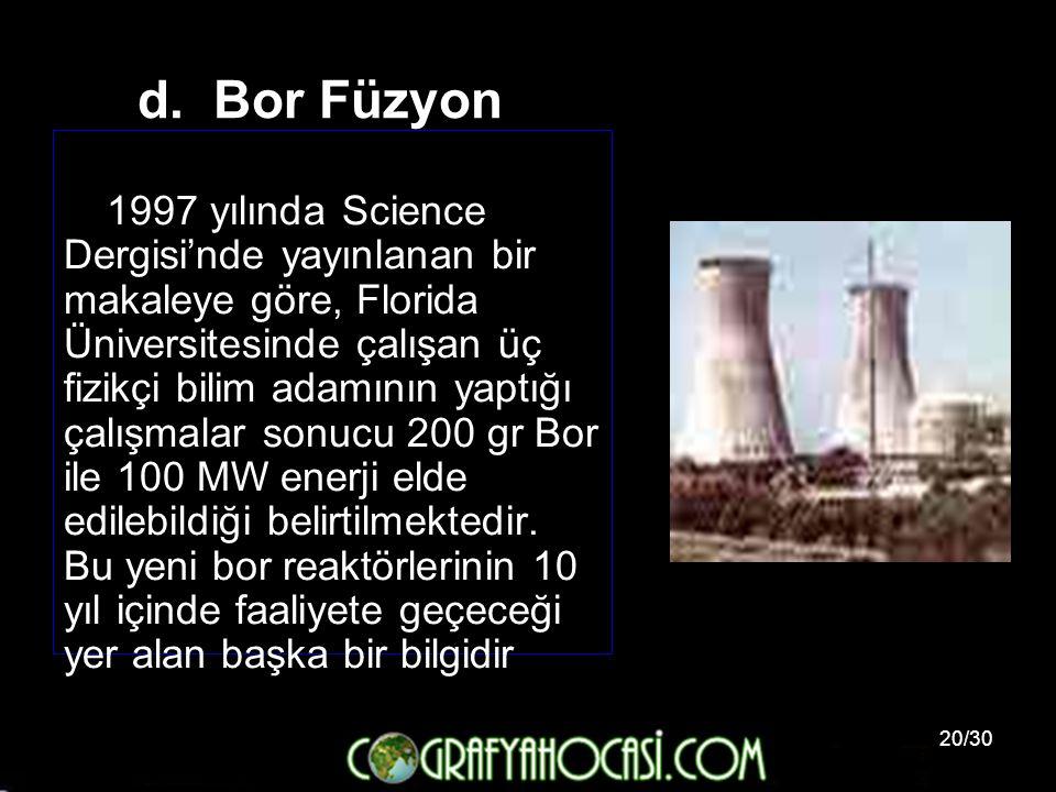 d. Bor Füzyon