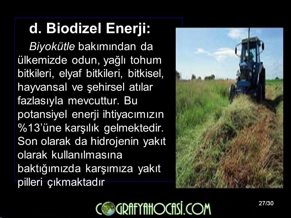 d. Biodizel Enerji: