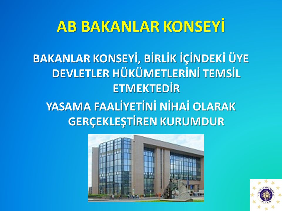 AB BAKANLAR KONSEYİ